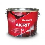 Краска водоэмульсионная Eskaro Akrit 12 База TR, 9л