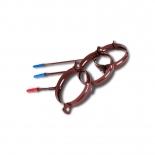 Держатель трубы металл Profil D130 L100 коричневый 8017 (019)
