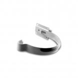 Держатель желоба малый металл Profil D90 белый 9016 (121)