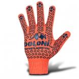 Перчатки трикотажные с точкой ПВХ (526) оранжевые