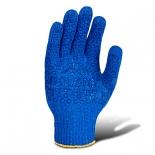 Перчатки трикотажные с точкой ПВХ (646) синие
