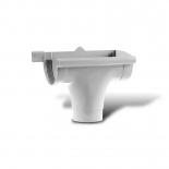 Воронка желоба правая P ПВХ Profil D90 белая 9016 (107P)