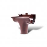Воронка желоба проходная ПВХ Profil D130 коричневая 8017 (007)