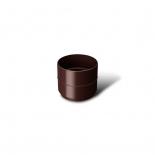 Соединитель водосточной трубы ПВХ RainWay D75 коричневая (8017)