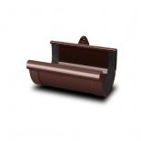 Соеденитель желоба ПВХ RainWay D130 коричневый (8017)