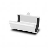 Соеденитель желоба ПВХ RainWay D90 белый (9003)