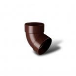 Отвод водосточной трубы двухмуфтовый 67° ПВХ RainWay D75 коричневый (8017)