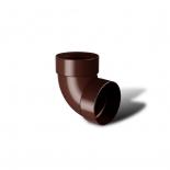 Отвод водосточной трубы двухмуфтовый 87° ПВХ RainWay D75 коричневый (8017)