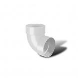 Отвод водосточной трубы двухмуфтовый 87° ПВХ RainWay D75 белый (9003)