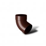 Отвод водосточной трубы одномуфтовый 67° ПВХ RainWay D75 коричневый (8017)