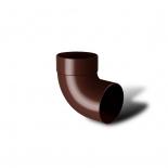 Отвод водосточной трубы одномуфтовый 87° ПВХ RainWay D100 коричневый (8017)