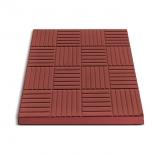Плитка тротуарная Печенье 30х30х3 см, красная