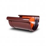 Соединитель желоба ПВХ Profil D130 коричневый 8017 (011)