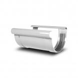 Соединитель желоба ПВХ Profil D90 белый 9016 (111)