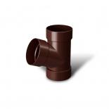 Тройник водосточной трубы 67° ПВХ RainWay D75 коричневый (8017)