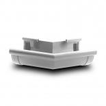 Угол желоба наружный W135° ПВХ Profil D90 белый 9016 (103D)