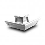 Угол желоба наружный W90° ПВХ Profil D90 белый 9016 (103)