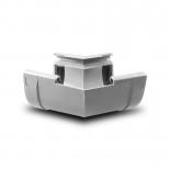 Угол желоба внутренний W135° ПВХ Profil D130 белый 9016 (004D)