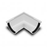 Угол желоба наружный 90° ПВХ RainWay D90 белый (9003)