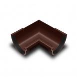 Угол желоба внутренний 90° ПВХ RainWay D90 коричневый (8017)