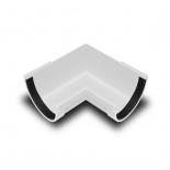 Угол желоба внутренний 90° ПВХ RainWay D130 белый (9003)