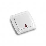 Выключатель кнопочный с подсветкой ViKO Carmen () белый