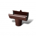 Воронка желоба ПВХ RainWay D130 коричневая (8017)