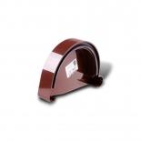 Заглушка желоба левая ПВХ Profil D130 коричневая 8017 (006)