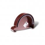 Заглушка желоба правая ПВХ Profil D90 коричневая 8017 (105)