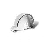 Заглушка желоба правая ПВХ Profil D90 белая 9016 (105)