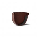 Заглушка желоба праваяПВХ RainWay D130 коричневая (8017)