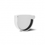 Заглушка желоба правая ПВХ RainWay D90 белая (9003)