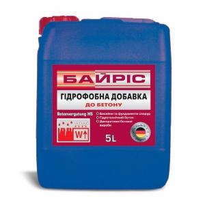 Пластификатор Байрис, добавка гидрофобная для бетона Н-5, 1л