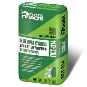 Универсальная клеевая смесь для систем утепления Полипласт ПСТ-014, 25кг