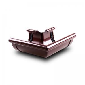 Угол желоба наружный W90° ПВХ Profil D130 коричневый 8017 (003)