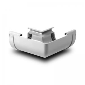 Угол желоба внутренний W90° ПВХ Profil D130 белый 9016 (004)