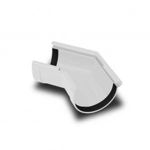 Угол желоба наружный 135° ПВХ RainWay D90 белый (9003)