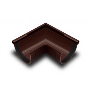 Угол желоба наружный 90° ПВХ RainWay D130 коричневый (8017)